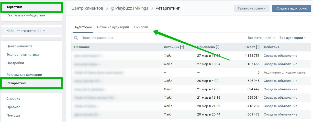 Настраиваем ретаргетинг Вконтакте — инструкция